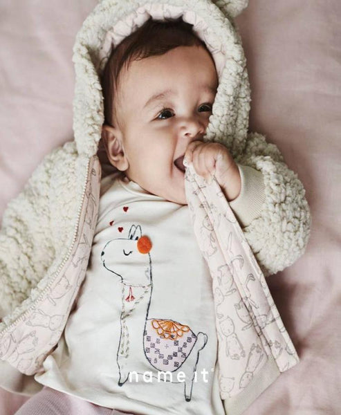 Name it Baby Girl Top with Alpaca Print