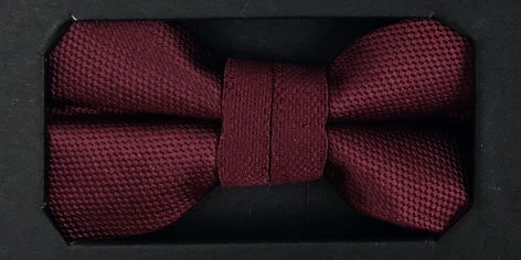 Boys Solid Wine Communion Bow Tie & Pocket Square