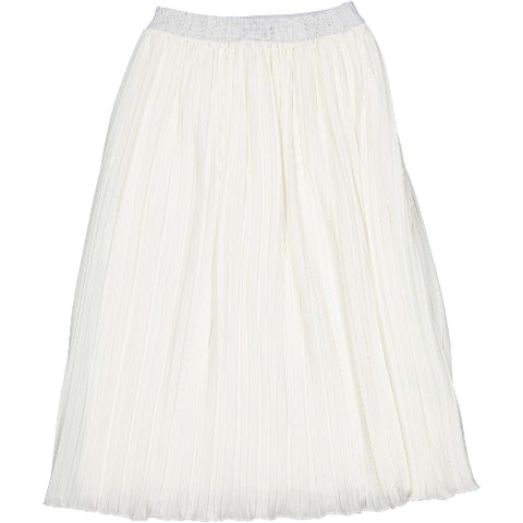 Try Beyond Girls White Pleat Skirt