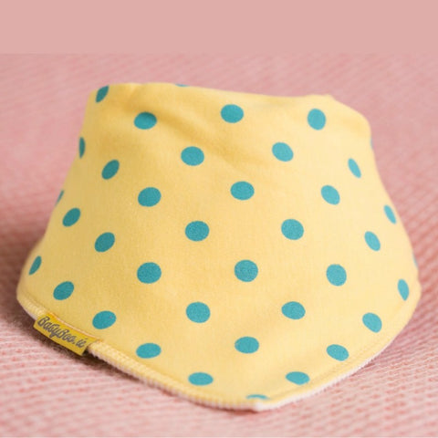 Babyboo Bandana Bib Dotty Yellow