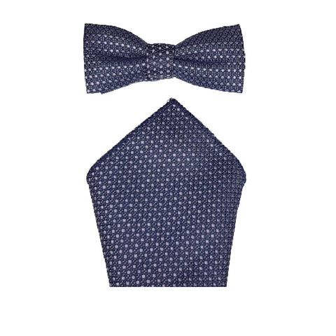Boys Communion Bow Tie & Pocket Square in Navy and Lilic