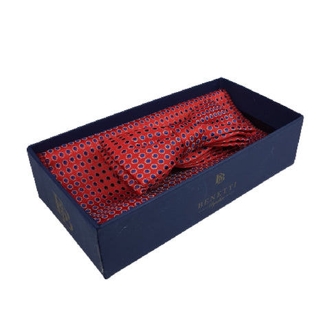 Boys Communion Bow Tie & Pocket Square in Dotty Red