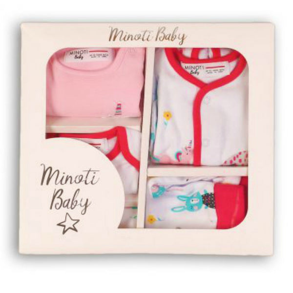 Minoti Baby Girl 5-Piece Boxed Gift Set