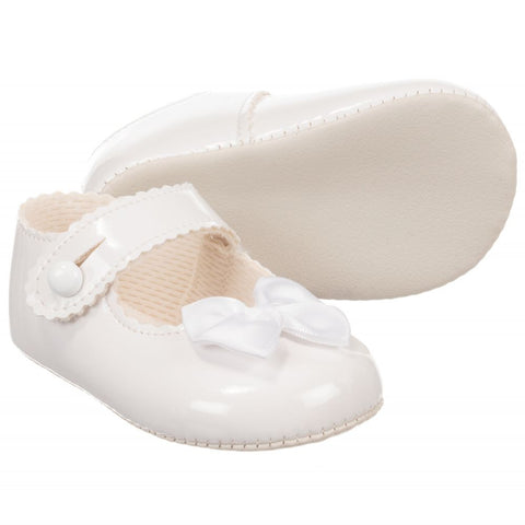 Girls White Christening Shoe