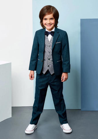 Benetti Boys 3-Piece Lloyd Forest Green Communion Suit