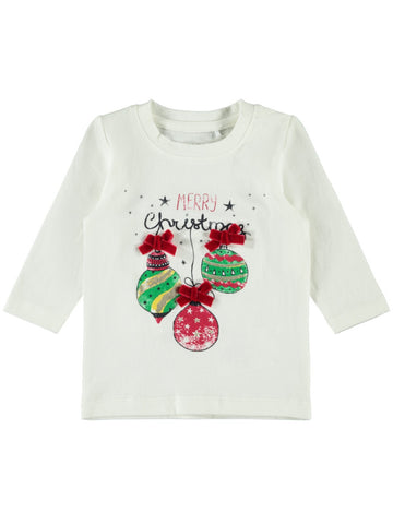 Name it Baby Girl Cute Christmas Top