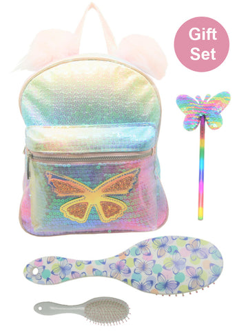 Butterfly Backpack Gift Set