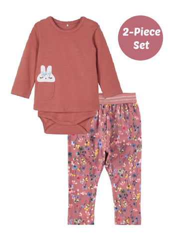 Name it Baby Girl 2-Piece Pink Bunny Set