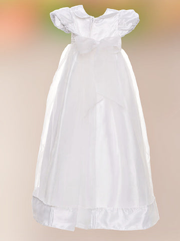 Sweetie Pie Christening Gown with Beaded Bodice