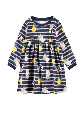 Name it Mini Girl Peppa Pig Long Sleeved Sweat Dress