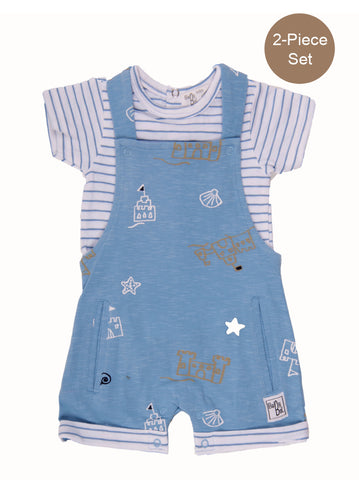 Baby Boy 2-Piece Shorts Dungaree Set