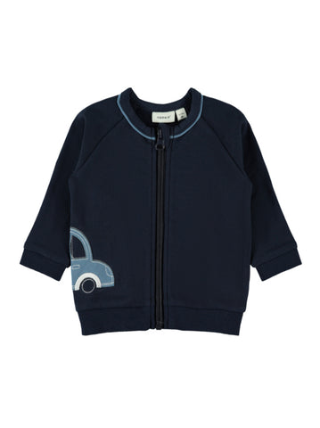Name it Baby Boy Zip-Up Car Sweat Cardigan