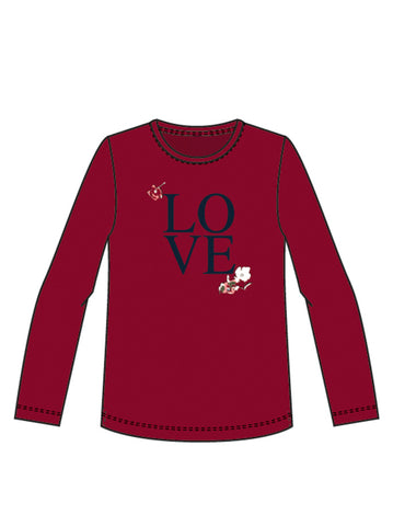 Name it Girls Love And Flowers Long Sleeved Top
