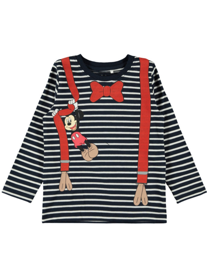 Name it Mickey Mouse Striped Long Sleeved Top
