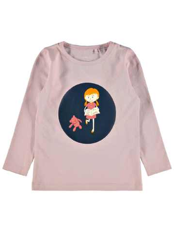 Name it Mini Girls Graphic Print Cotton Top