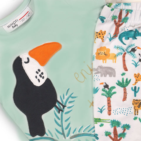 Minoti Baby Boy Top and Pants 2-Piece Jungle Set