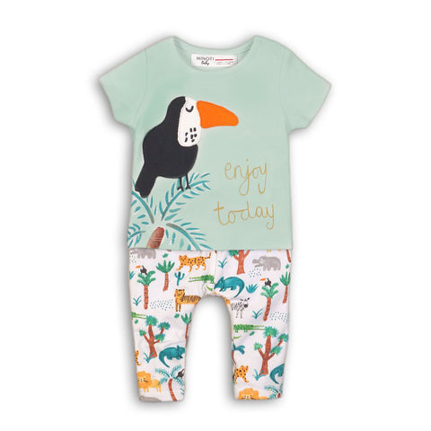 Jungle Theme Baby T-shirt and Pants