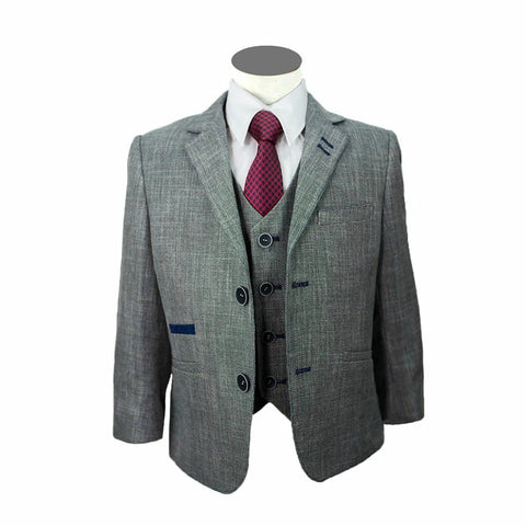 Boys 3-Piece Grey Suit for Communions