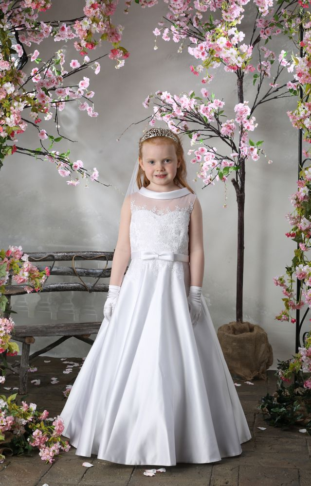 Girls Communion Dress Cherry