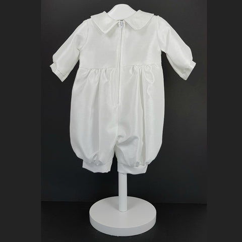 Boys White Christening Suit with Peter Pan Collar