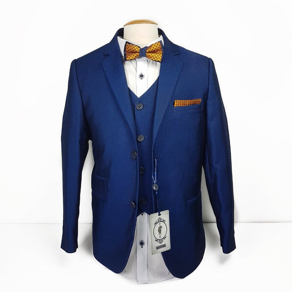 Boys Midnight Blue Communion Suit