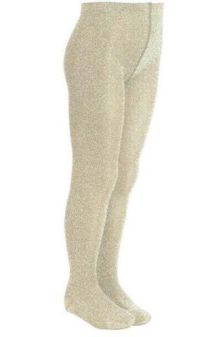 Girls Gold Glitter Tights