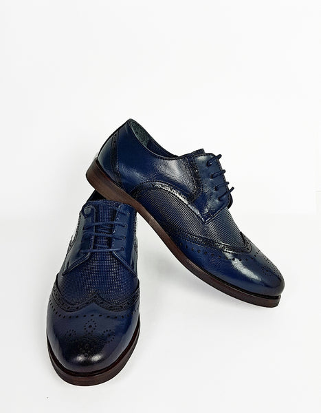Boys Benetti George Navy Communion Shoes