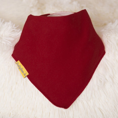 Babyboo Bandana Bib in Solid Wine