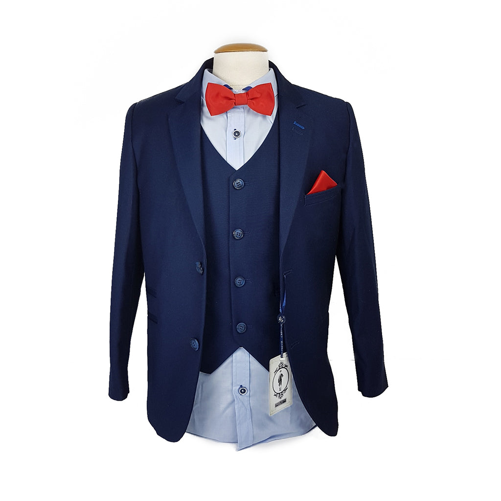 Boys Navy 3-Piece Suit