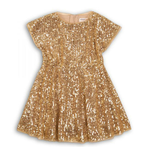 Minoti Kids Gold Sequin Dress