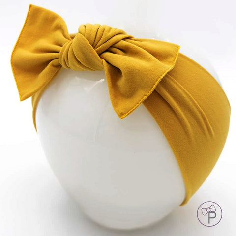 Little Bow Pip Mustard Pippa Bow Hairband
