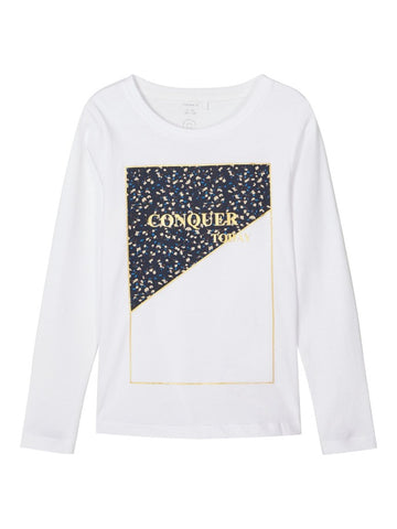 Name it Girls Long Sleeve Crew Neck Top