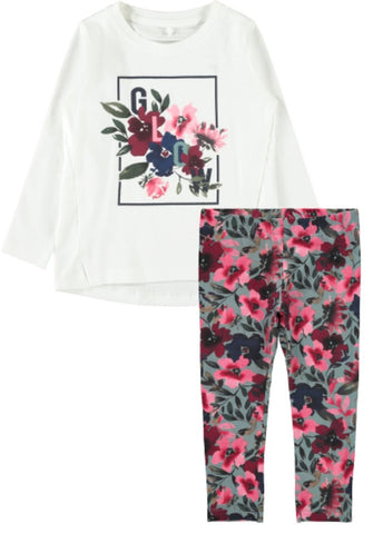 Name it Girls 2-Piece Floral Top and Legging Set