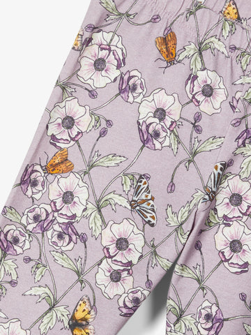 Name it Girls Lilac Floral Leggings