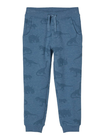 Name it Boys Blue Dinosaur Print Sweat Pants
