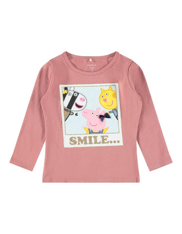Name it Girls Peppa Pig Colourful Cotton Top