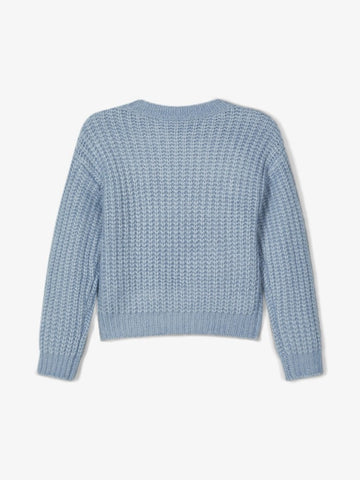 Name it Girls Dusty Blue Knitted Jumper