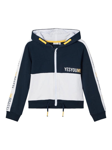 Name it Girls Sporty Zip-Up Hoodie Sweatshirt