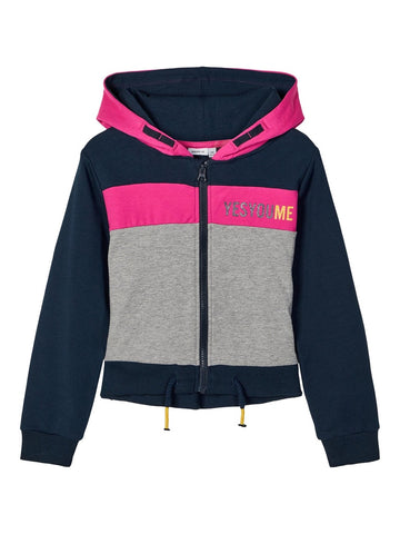 Name it Girls Sporty Zip-Up Hooded Sweatshirt
