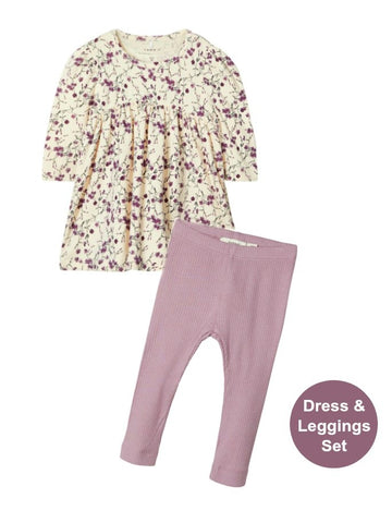 Name it Baby Girl 2-Piece Dress and Legging Set