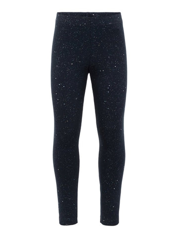 Name it Mini Girls Sparkly Navy Legging