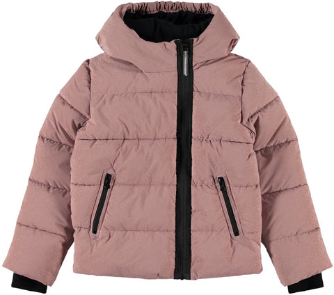 Name it Girls Pink Puffer Winter Jacket