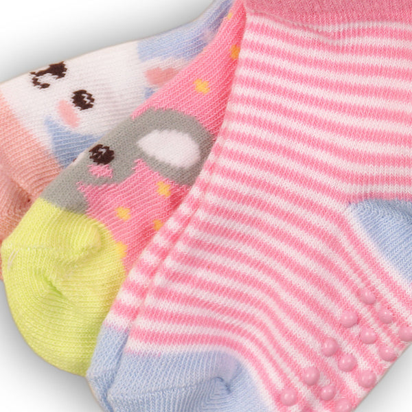 Minoti Baby Girl 3-Pack Ankle Socks CLOSE UP