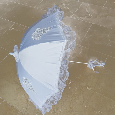Communion Parasol with Lace Frills