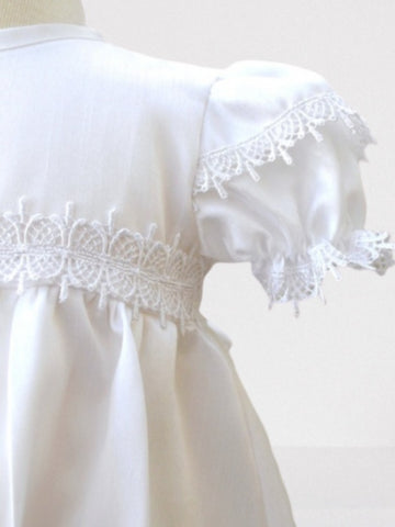 White Christening Gown with Embroidered Cross