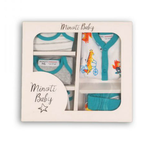 Minoti Baby Boy 5-Piece Boxed Gift Set