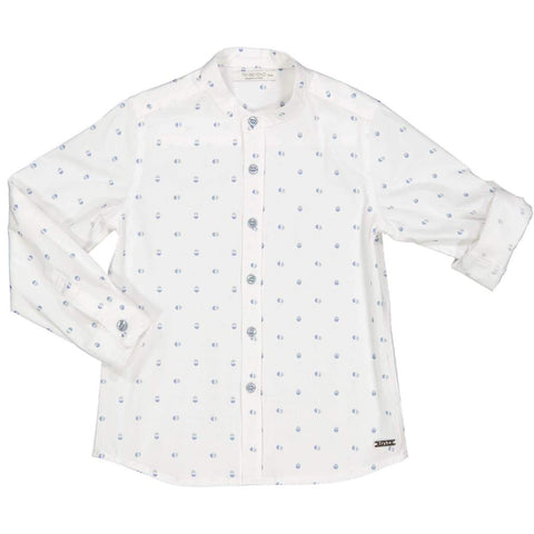 Try Beyond Boys White Grandad Collar Shirt