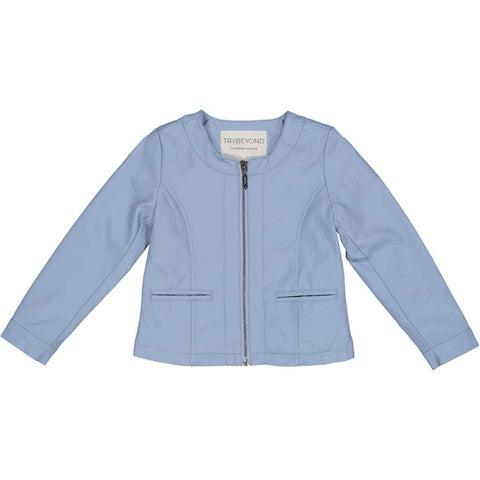Try Beyond Girls Blue Faux Leather Jacket