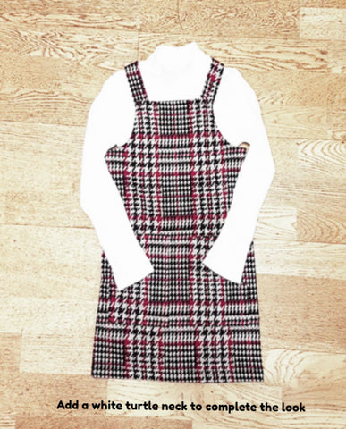 Name it Girls Check Pinafore Dress