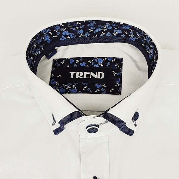 Boys white special occasion shirt